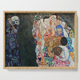 Gustav Klimt - Death And Life Serving Tray