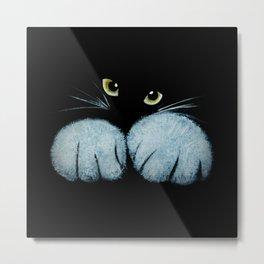 Animals Print, Black, Cat Print Metal Print