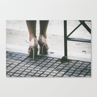 heels Canvas Prints featuring Heels by Photography by H. Salonen-Kvarnström