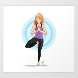 Tree Pose Art Print
