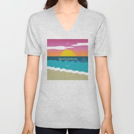 Beach Chakras Unisex V-Neck