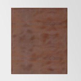 Burnt Orange Leather Throw Blanket