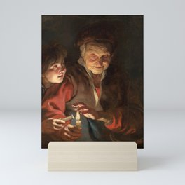 Peter Paul Rubens - Old Woman and Boy with Candles Mini Art Print
