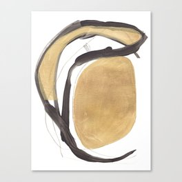 Gold and Black Abstract Canvas Print