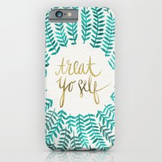 Treat Yo Self – Gold & Turquoise iPhone 6s Slim Case