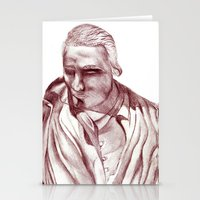 actor Stationery Cards featuring 1898 Stage actor by seb mcnulty