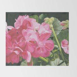 Loves Folly - Geraniums Throw Blanket