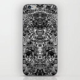 Mirrored Black and White Cityplan iPhone Skin