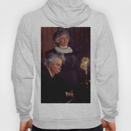 Edvard Grieg (1843 – 1907) accompanying his wife by Peder Severin Kroyer (1851-1909) Hoody