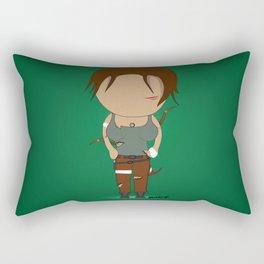 Minimalist lara croft Rectangular Pillow