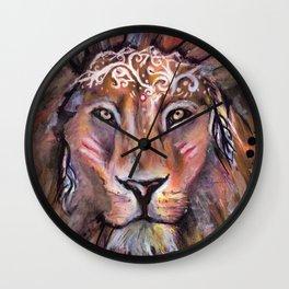 Lion warrior Wall Clock