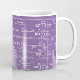 Library Card 23322 Negative Purple Coffee Mug