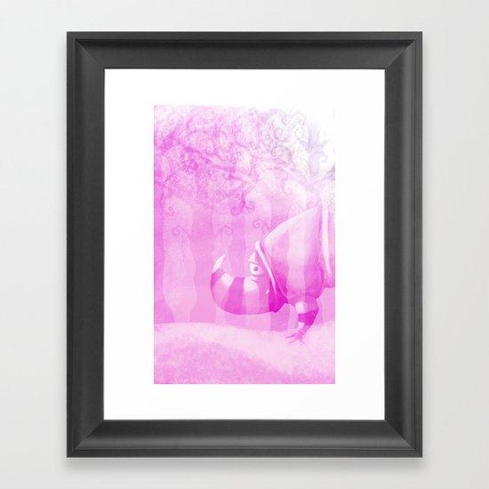 Ghostly Rhino Framed Art Print