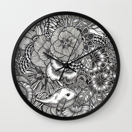 Adventure of Tiny Land Whales Wall Clock