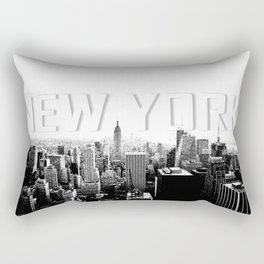 New York Black & White Sketch Rectangular Pillow
