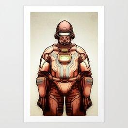 HazmatSuit Art Print