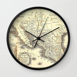 Vintage Mexico map Wall Clock