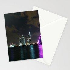 Miami night skyline Stationery Cards