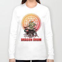 drum Long Sleeve T-shirts featuring Dragon drum by kuuma