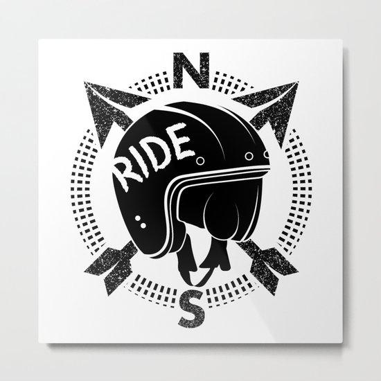 Motorcycle Helmet Metal Print
