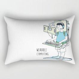Wearable Computing Rectangular Pillow