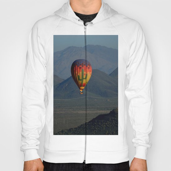 Hot Air Balloon over Arizona Morning Hoody