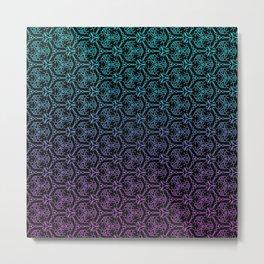 chain link - blue and purple mandala pattern Metal Print