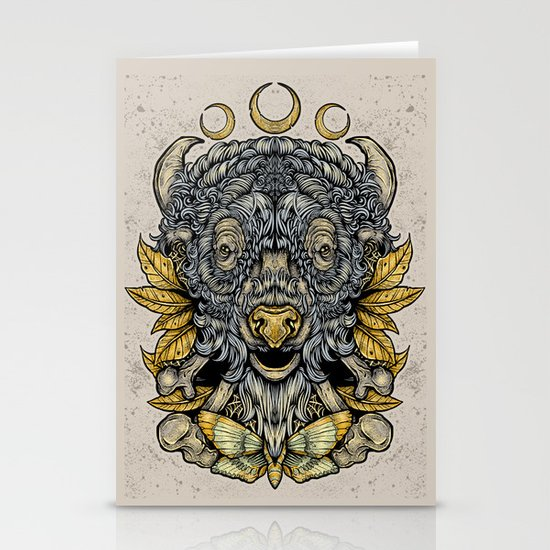 Buffalo Attack Stationery Cards