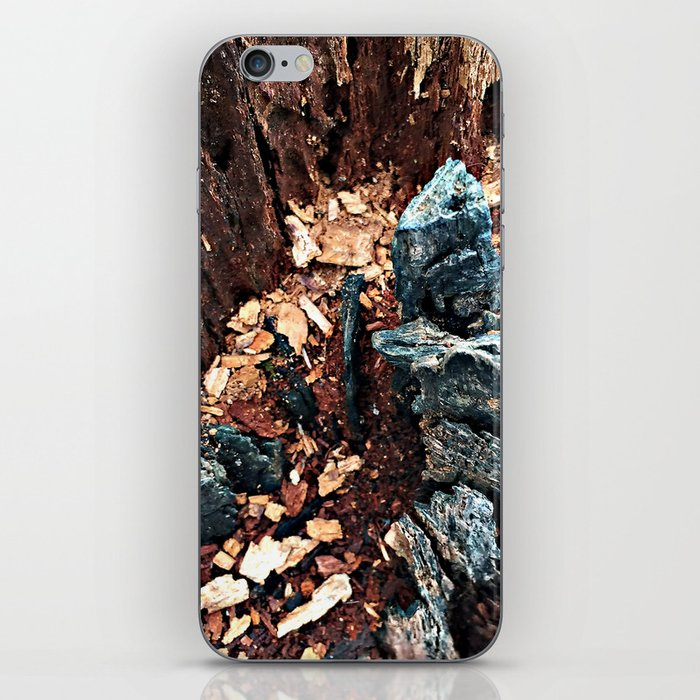 A tree asking, would you explore with me? iPhone Skin