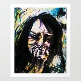 (Pain and Loss) Stricken Painting Art Print