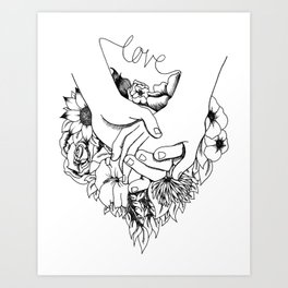 Pen and Ink Drawing - Love Always Art Print