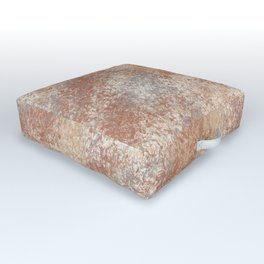 Cavern Clay SW 7701 and Abstract Distressed Chaotic Sponge Paint Pattern 2 Outdoor Floor Cushion