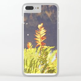 '..from its hidden reaches man arose. ' Clear iPhone Case