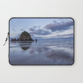 Haystack Rock at Low Tide in Early Morning Laptop Sleeve