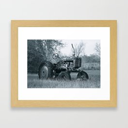 Farmer's Best Friend - B & W Framed Art Print
