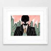 cycle Framed Art Prints featuring Cycle by Vanessa Neves