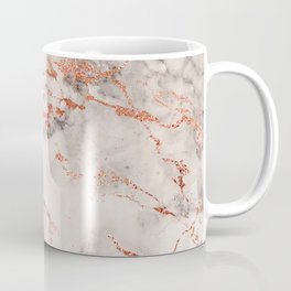 Elegant abstract gray rose gold foil marble Coffee Mug