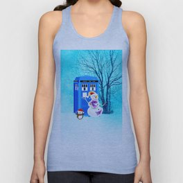Tardis of Christmas Unisex Tank Top