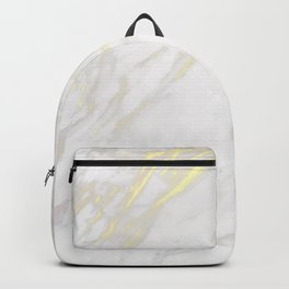 White marble gold accents Backpack