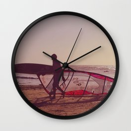 windsurf Wall Clock