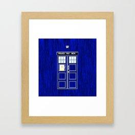 Tardis Time Framed Art Print