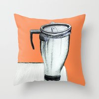 coffee Throw Pillows featuring Coffee  by Brontosaurus