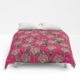 Red clover pattern Comforters