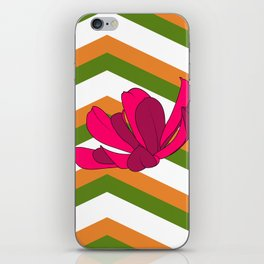 Chevron & Flower #1 iPhone Skin