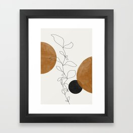 Abstract Plant Framed Art Print
