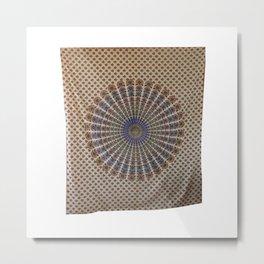 Traditional Indian Peacock Mandala tapestry Metal Print