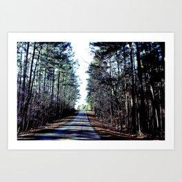 Farm Road Art Print
