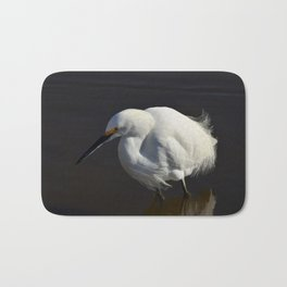 Snowy Egret I Bath Mat