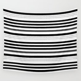 Stripes and dots pattern Wall Tapestry