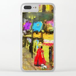 Street Night Lights Clear iPhone Case